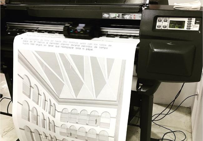 impresión de planos