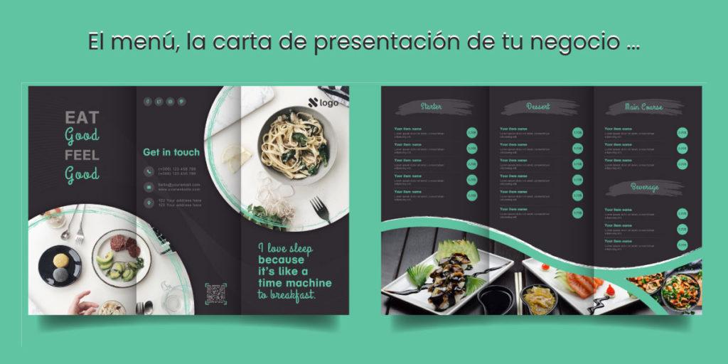 impresión de menú para restaurantes