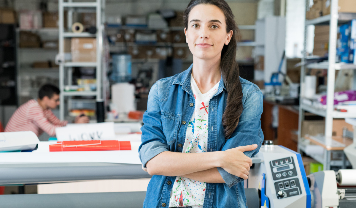 impresión digital operario